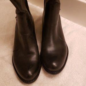 Via spiga black leather boot size 6.5m worn 2x